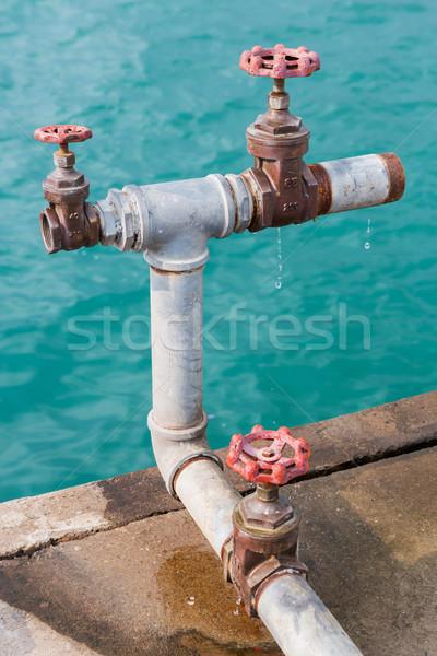 Su iskele doku inşaat Metal endüstriyel Stok fotoğraf © smuay