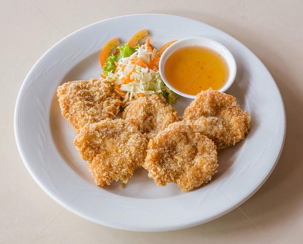 Deep fried shrimp cake Stock photo © smuay