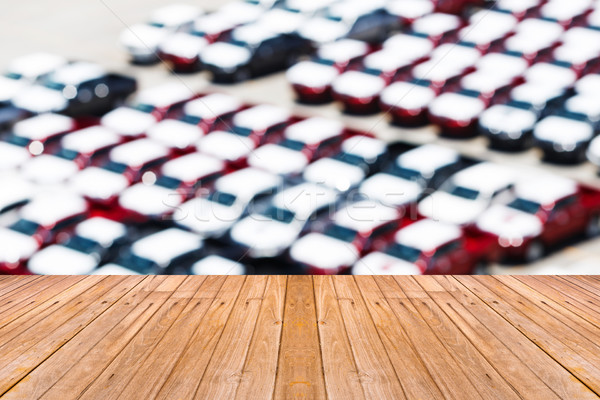 öreg fa asztal homály autó parkolóhely üres Stock fotó © smuay