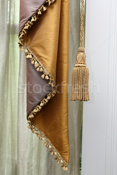 Curtain and tassel Stock photo © smuay