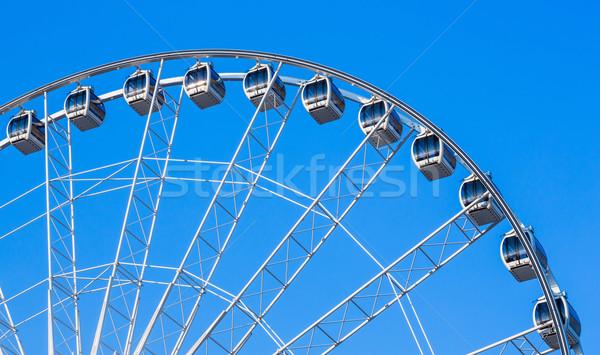 óriáskerék fehér kék ég nap nyár kék Stock fotó © smuay