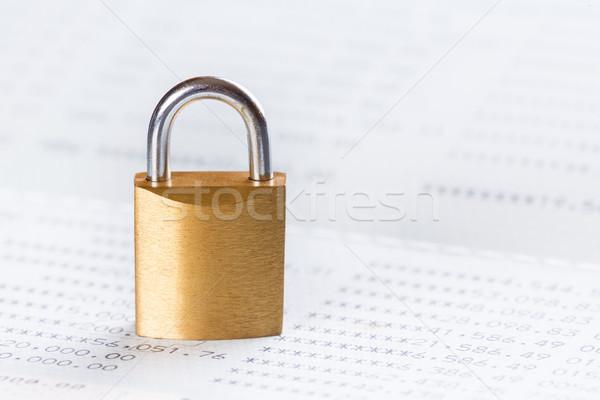 ключевые замок заблокированный финансовых бизнеса Сток-фото © smuay