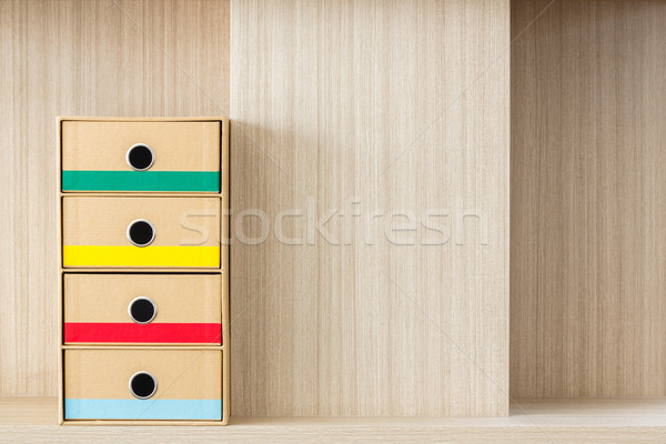 Corrugated paper drawer Stock photo © smuay