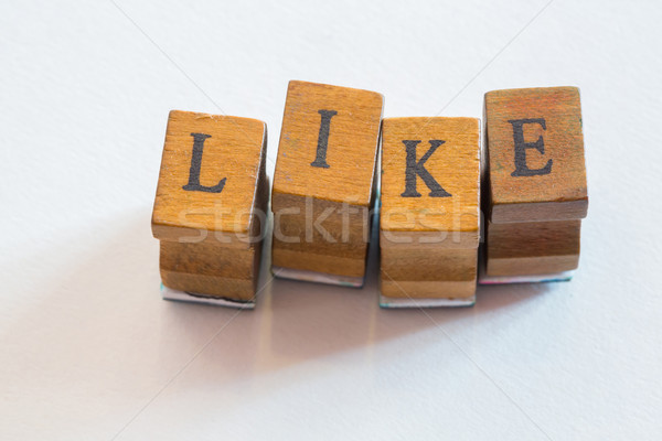 LIKE wording rubber stamps Stock photo © smuay