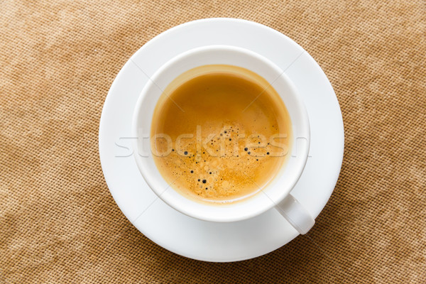Café expreso blanco color cerámica taza Foto stock © smuay