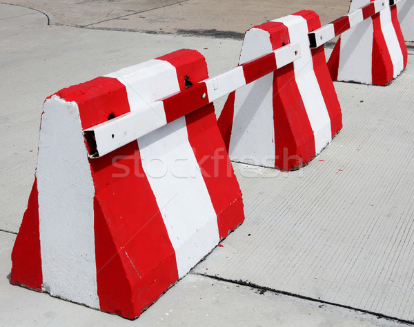 Safety concrete barrier Stock photo © smuay