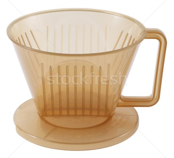 Három kávé izolált fehér otthon Stock fotó © smuay