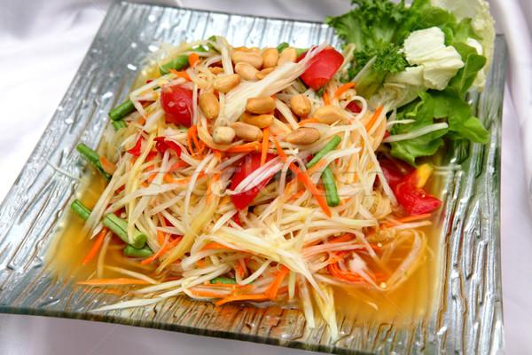 Thai papaya salad Stock photo © smuay