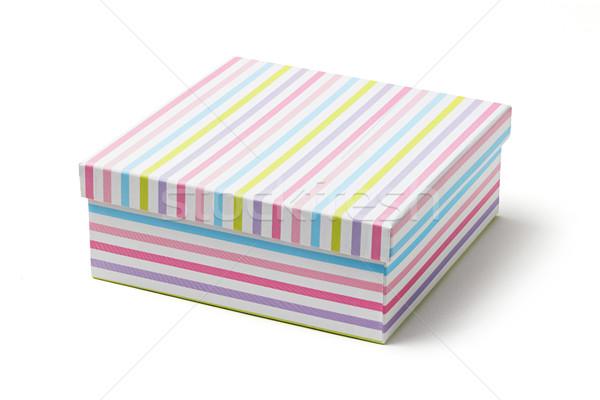 Colorido papel caja de regalo pastel color aislado Foto stock © smuay