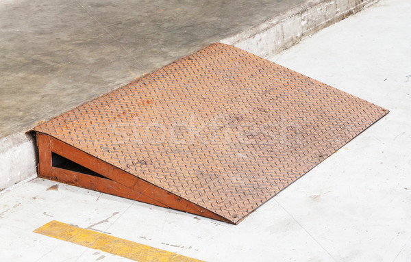 Steel plate ramp Stock photo © smuay