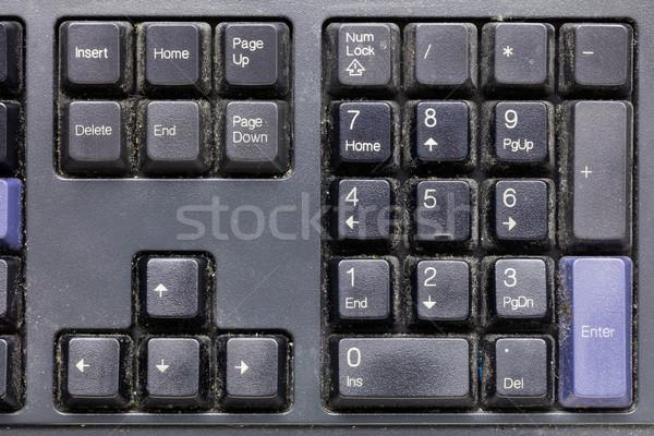 грязные клавиатура негигиеничный оборудование Министерство внутренних дел Сток-фото © smuay