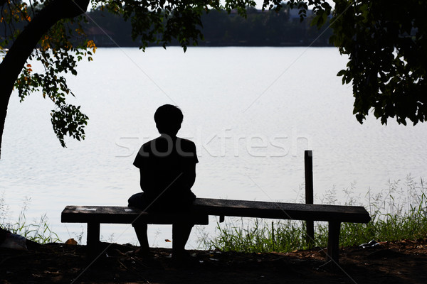 Lonely Silhouette  Stock photo © smuay