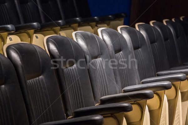Színház ülés oldal sorok oldalnézet megbeszélés Stock fotó © smuay