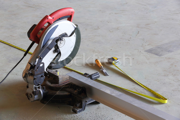 Stock photo: Circular saw