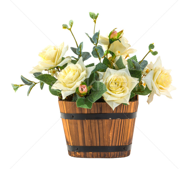 Bouquet of white rose Stock photo © smuay