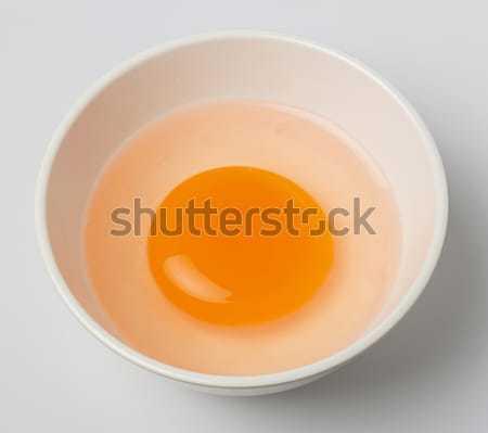 Kacsa tojás tojássárgája fehér kicsi tál Stock fotó © smuay