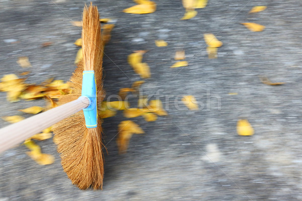 Sweeping the floor Stock photo © smuay