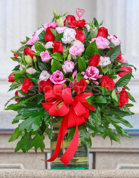 Сток-фото: букет · букет · цветы · стекла · ваза · весны