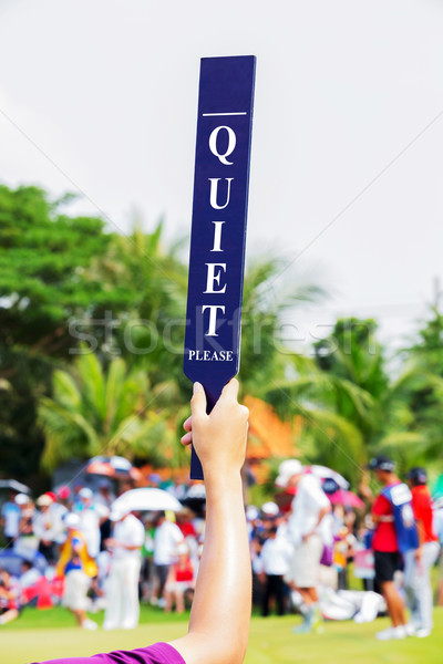 Quiet sign in golf tournament  Stock photo © smuay