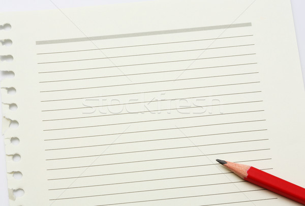 Note paper and pencil Stock photo © smuay