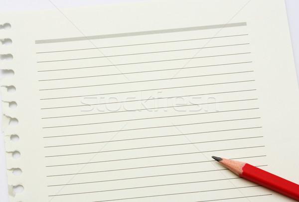 Levélpapír ceruza zöld olvas vékony vonal Stock fotó © smuay