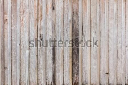 Eski ahşap duvar yıpranmış doku arka plan Stok fotoğraf © smuay