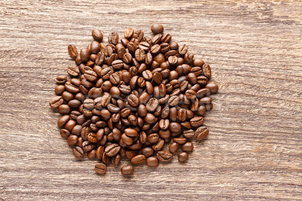 Kávé fából készült pörkölt öreg textúra fa Stock fotó © smuay