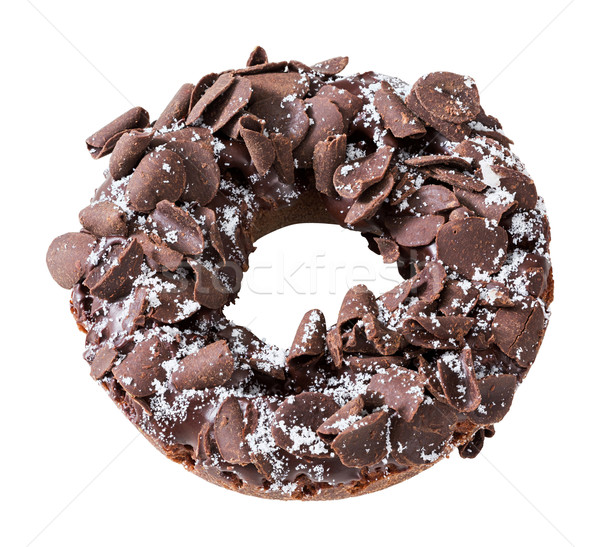 Donut topped by shredded chocolate Stock photo © smuay
