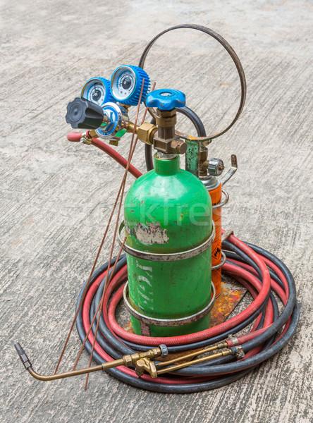 Gas welding kit Stock photo © smuay