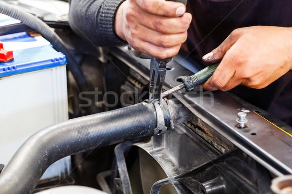 Repairing car radiator Stock photo © smuay