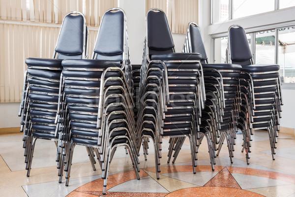 Boglya székek tárgyalóterem textúra nyár pihen Stock fotó © smuay