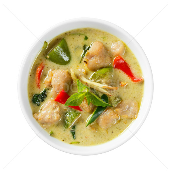 Clown knifefish ball green curry Stock photo © smuay