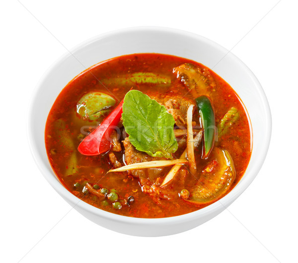 Spicy red curry with pork  Stock photo © smuay