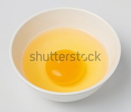 Tyúk tojás tojássárgája fehér kicsi tál Stock fotó © smuay