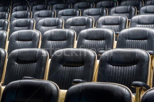 Színház ülés elöl sorok kilátás megbeszélés Stock fotó © smuay