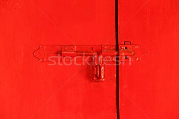 Piros ajtó csavar textúra keret biztonság Stock fotó © smuay