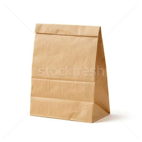 Brown color recycled paper bag  Stock photo © smuay