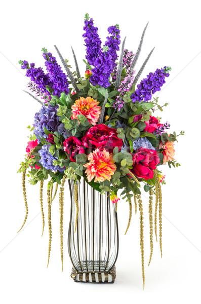 Photo stock: Fleurs · élégance · bouquet · rose · chrysanthème · lavande