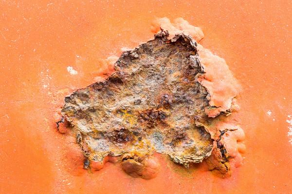 Arrugginito superficie metallica vecchio intemperie metal Foto d'archivio © smuay