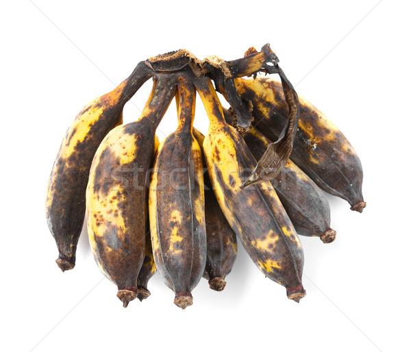 Rohadt megművelt banán közelkép izolált fehér Stock fotó © smuay