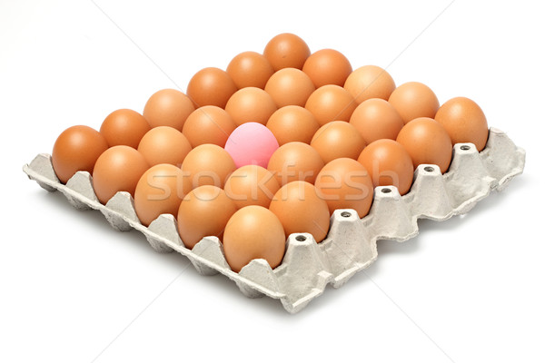 Century egg and chicken eggs Stock photo © smuay