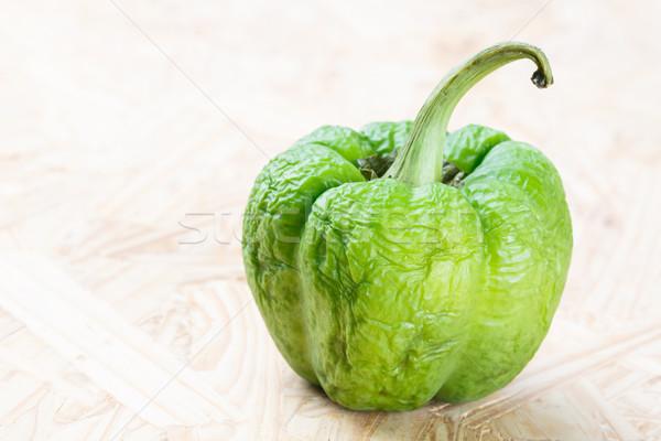 wrinkled green bell pepper Stock photo © smuay