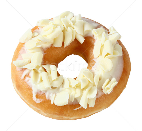 Donut topped by shredded white chocolate Stock photo © smuay