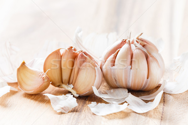 Organic garlic bulb Stock photo © smuay