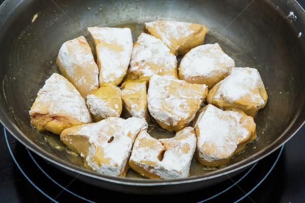 Cooking foie gras Stock photo © smuay