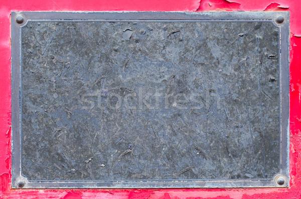 Blank grunge name plate Stock photo © smuay