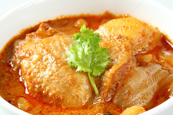 Muslim style chicken and potato curry or chicken mussaman curry Stock photo © smuay