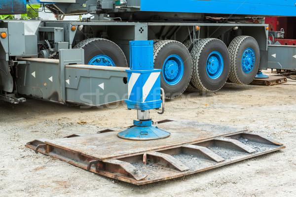 Vinç ağır görev çelik araba Stok fotoğraf © smuay