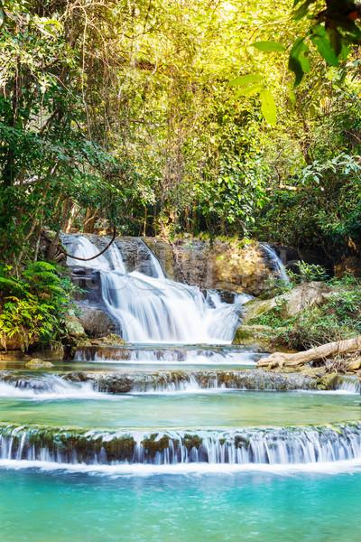 Vízesés park western Thaiföld víz fa Stock fotó © smuay