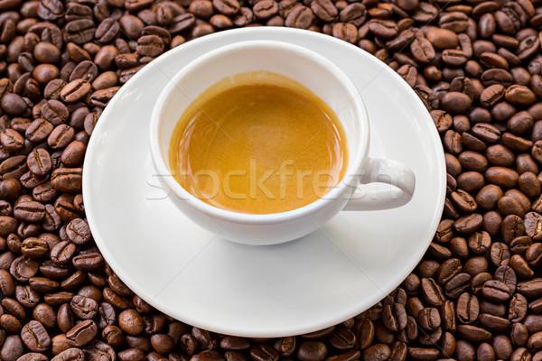 Eszpresszó kávébab arany étel kávé háttér Stock fotó © smuay